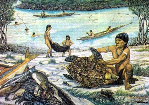 Плавание индейцев